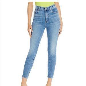 High Waisted Skinny Ankle Jeans in light blue wash